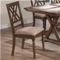 Winners Only Florence Double X Back Side Chair - Item Number: DF1451SM