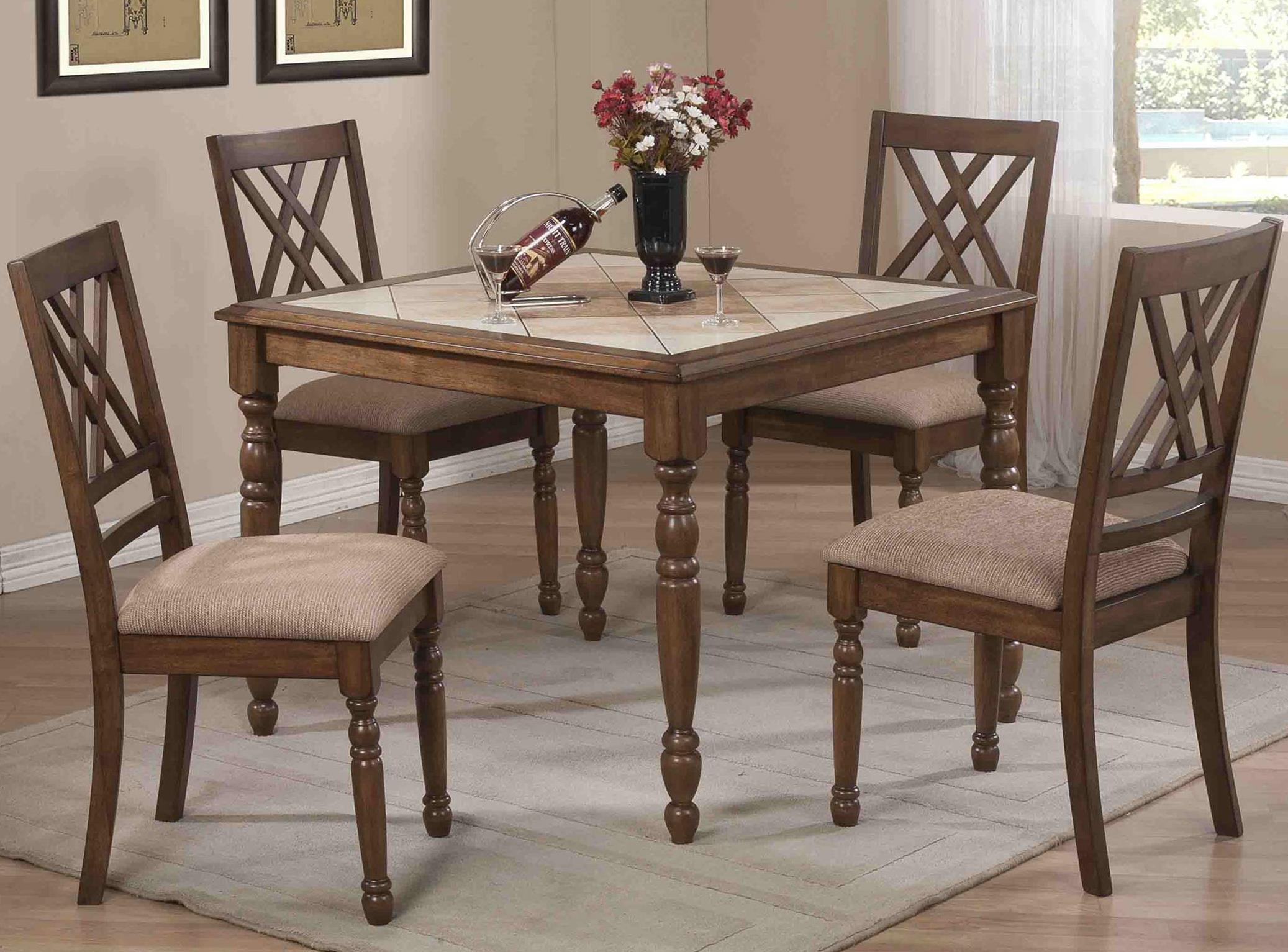 Winners Only Florence 5 Piece Counter Dining Set - Item Number: DFT14040M+4x5124M