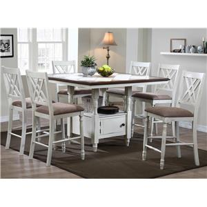 Winners Only Florence  7 Piece Counter Dining Set
