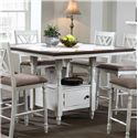 "Winners Only Florence  51"" Tile Top Storage Tall Table - Item Number: DFT15151PN"