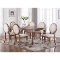 Winners Only Glendale 7-Piece Dining Set - Item Number: DG34278+6x51S