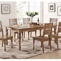 """Winners Only Glendale 78"""" Leg Table with 18"""" Leaf - Item Number: DG34278"""
