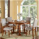 Winners Only Grand Estate 5 Piece Table & Chair Set - Item Number: DG25858+4x2452S