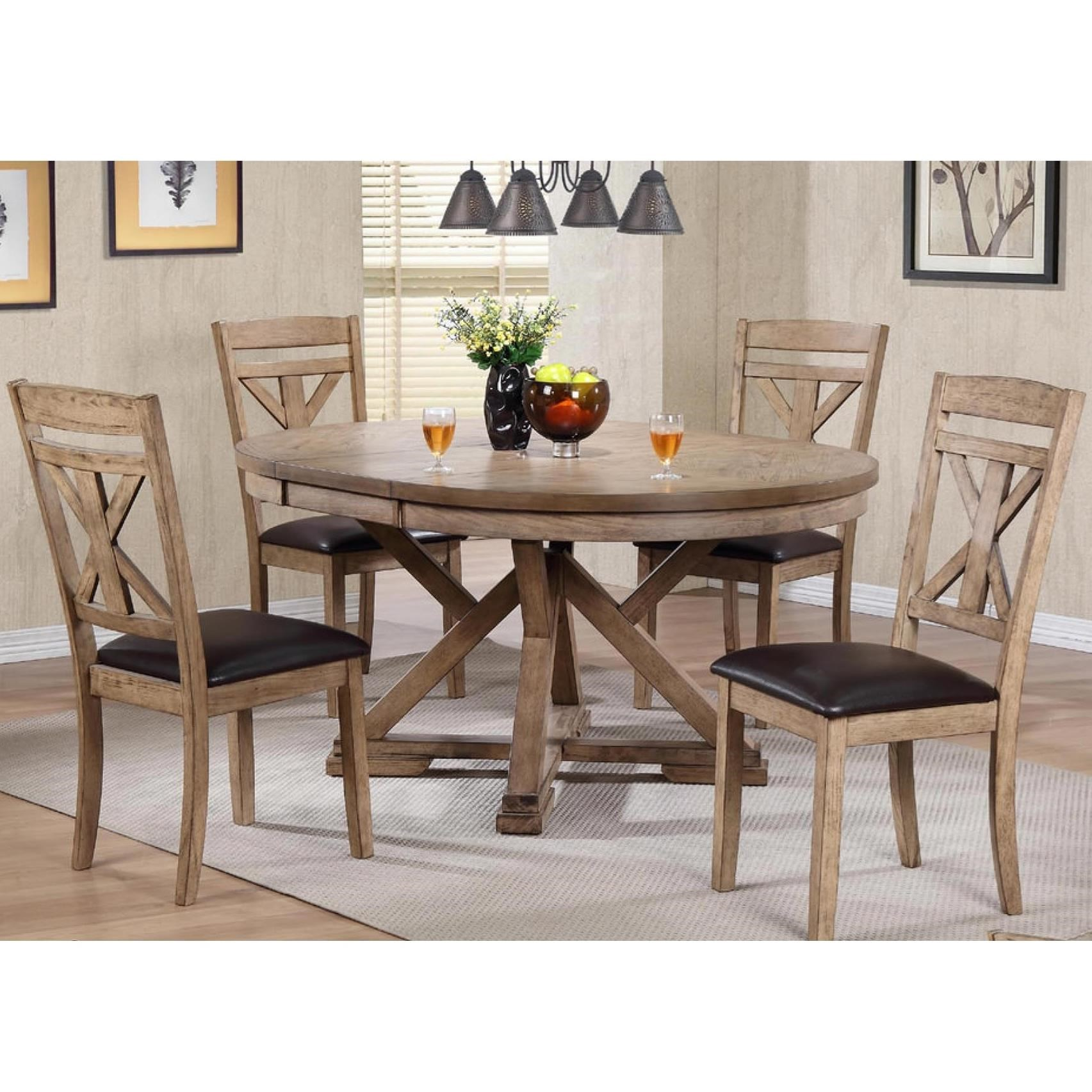 Winners Only Grandview 5 Piece Dining Set   Item Number: DFG14866+4x52S