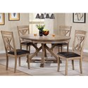 Winners Only Grandview 5 Piece Dining Set - Item Number: DFG14866+4x52S
