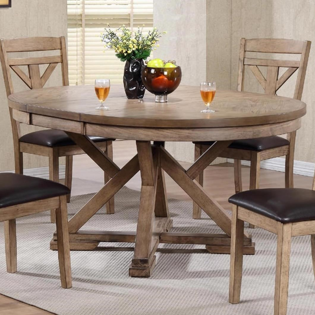 Round Dining Room Tables With Leaves: Winners Only Grandview Round Table With Butterfly Leaf