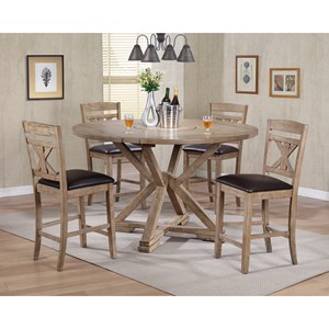 Winners Only Grandview 5 Piece Counter Height Dining Set