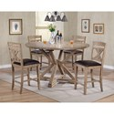 Winners Only Grandview 5 Piece Counter Height Dining Set - Item Number: DFGT16060+4x45224