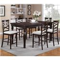 Winners Only Hamilton Park 7 Piece Counter Height Dining Set - Item Number: DHT14078+6x145024