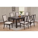Winners Only Hartford 7 Pc Dining Set - Item Number: DH24282+6x2450S