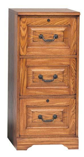 Winners Only Heritage Oak Hertiage Three-Drawer File - Item Number: H131
