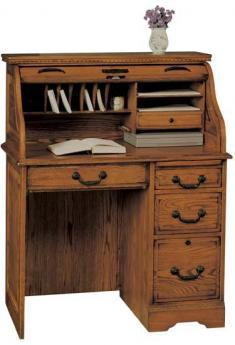 Winners Only Heritage Oak Roll Top Desk - Item Number: H136R-RTA