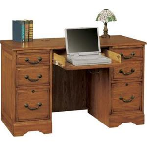 "Winners Only Heritage Oak 48"" Heritage Dark & Light Flattop Desk"