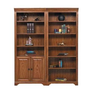 """Winners Only Heritage Oak 32"""" Bookcase w/ Doors"""