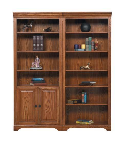 "Winners Only Heritage Oak 32"" Bookcase w/ Doors - Item Number: HM332BDR"