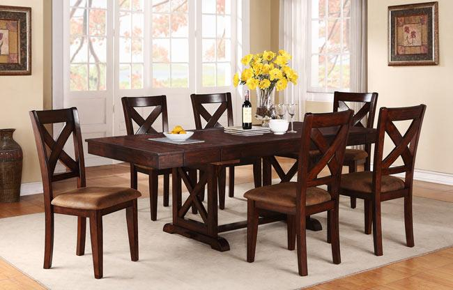 Winners Only Java Rectangular Dining Table with X Shaped  : products2Fwinnersonly2Fcolor2Fjava20dj14dj14094 b2 from www.dunkandbright.com size 650 x 416 jpeg 47kB