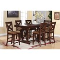 Winners Only Java 7-Piece Dining Set - Item Number: DJT13879+6x45024