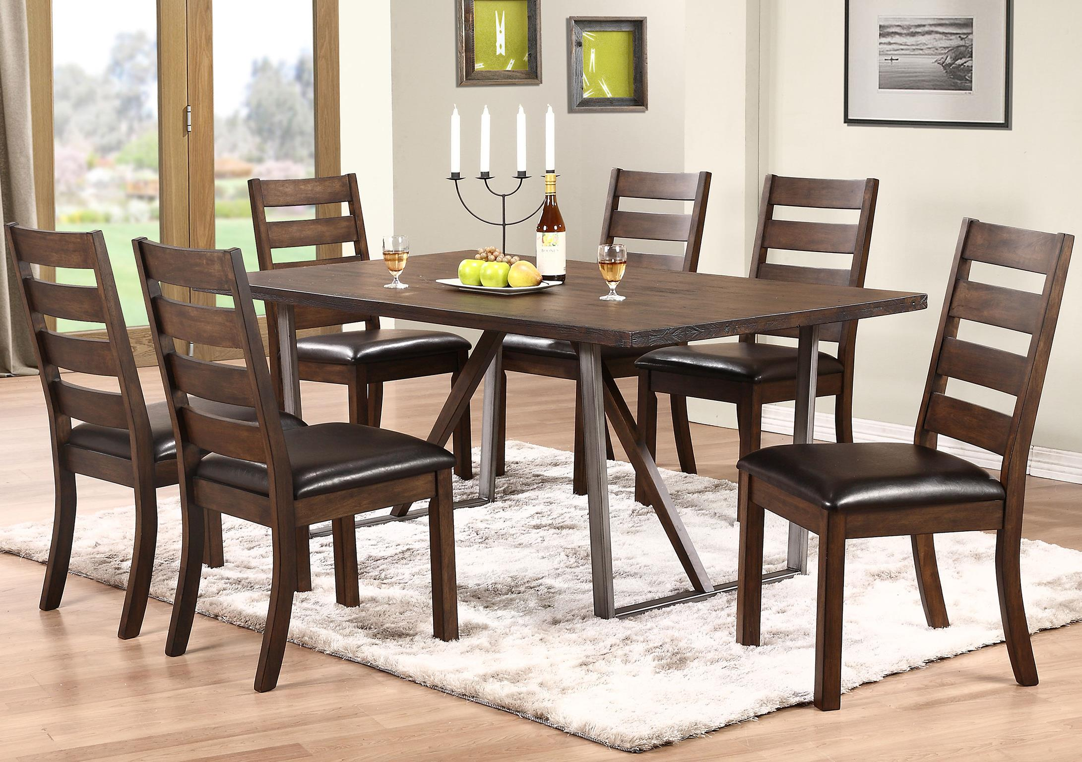 winners only kendall 7 piece dining set with trestle table