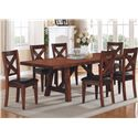 Winners Only Kingston  7 Piece Table & Chair Set - Item Number: DK14296+6x1450S