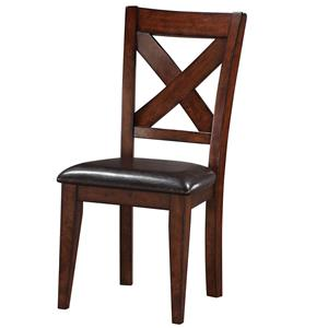 x back side chair with upholstered seat see all dining chairs by winners only