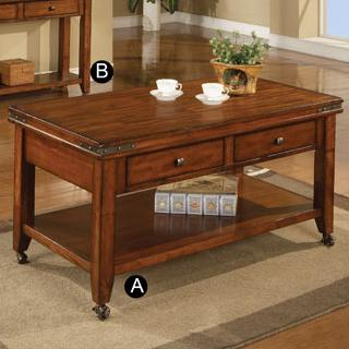 """50"""" Coffee Table with Casters"""