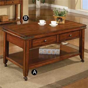 "Winners Only Mango 50"" Coffee Table with Casters"