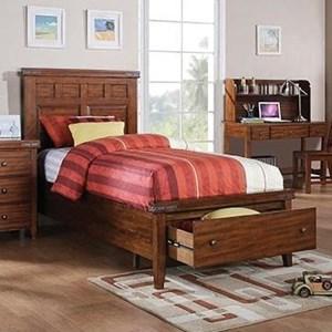 Full Panel Storage Bed