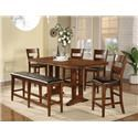 Winners Only Mango 5 Piece Dining Set - Item Number: DMG-T3678+4xT45024