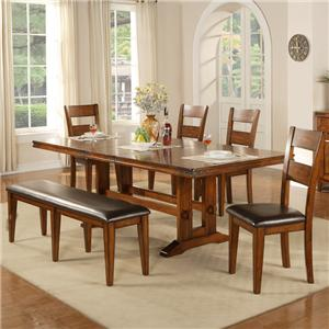 Winners Only Mango 6 Piece Dining Table and Chair Set