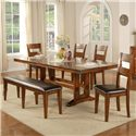 Winners Only Mango 6 Piece Dining Table and Chair Set - Item Number: DMG4492+4x50S+55S