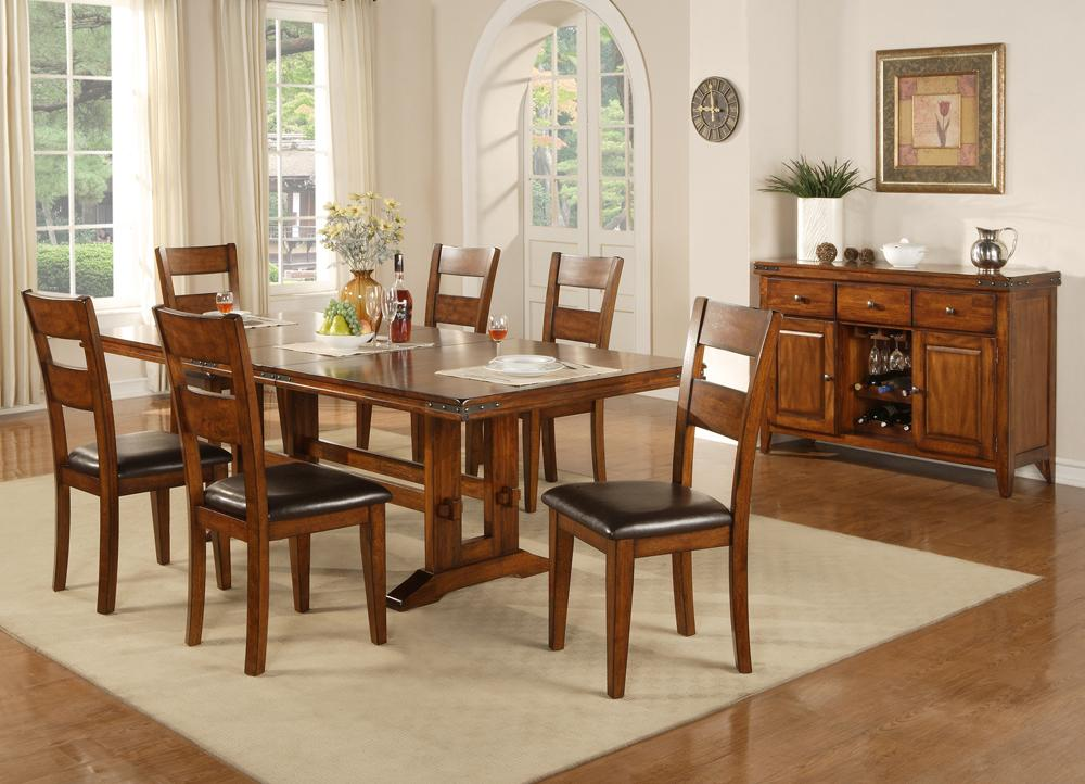 Winners Only Mango 7 Piece Trestle Table And Side Chair