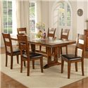 Winners Only Mango 7 Piece Trestle Table and Side Chair Set