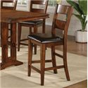 Winners Only Mango 6 Piece Trestle Table, Bench and Chair Set - Barstool