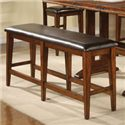 Winners Only Mango 6 Piece Trestle Table, Bench and Chair Set - Tall Bench