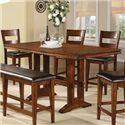 Winners Only Mango 6 Piece Trestle Table, Bench and Chair Set - Tall Trestle Table