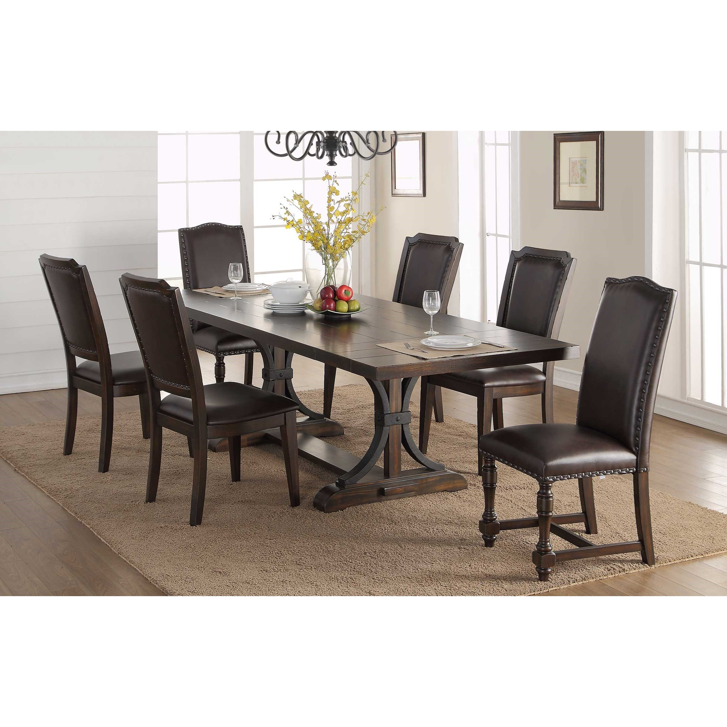 Winners Only Montreal Transitional 7 Piece Table And Chair Set Lindy S Furniture Company Dining 7 Or More Piece Sets