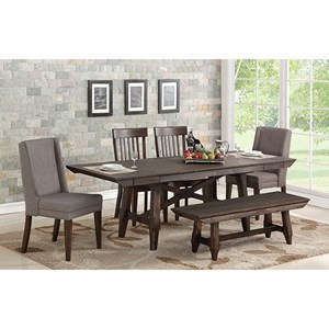 Table and Chair Set with Bench