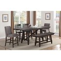 Winners Only New Haven Table and Chair Set with Bench - Item Number: DNT23697+2x45024+2x45124+45524