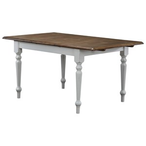 "Winners Only Pacifica 60"" Leg Table with 15"" Butterfly Leaf"