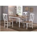 Winners Only Pacifica Table & 4 Chairs - Item Number: DP53667+4XDP520S