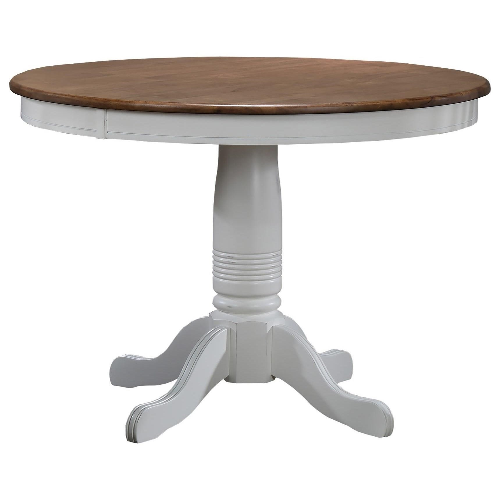Winners Only Pacifica 42 Round Single Pedestal Dining Table Lindy S Furniture Company Dining Tables