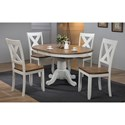 Winners Only Pacifica 5-Piece Dining Set - Item Number: DP54257+4xDP521S