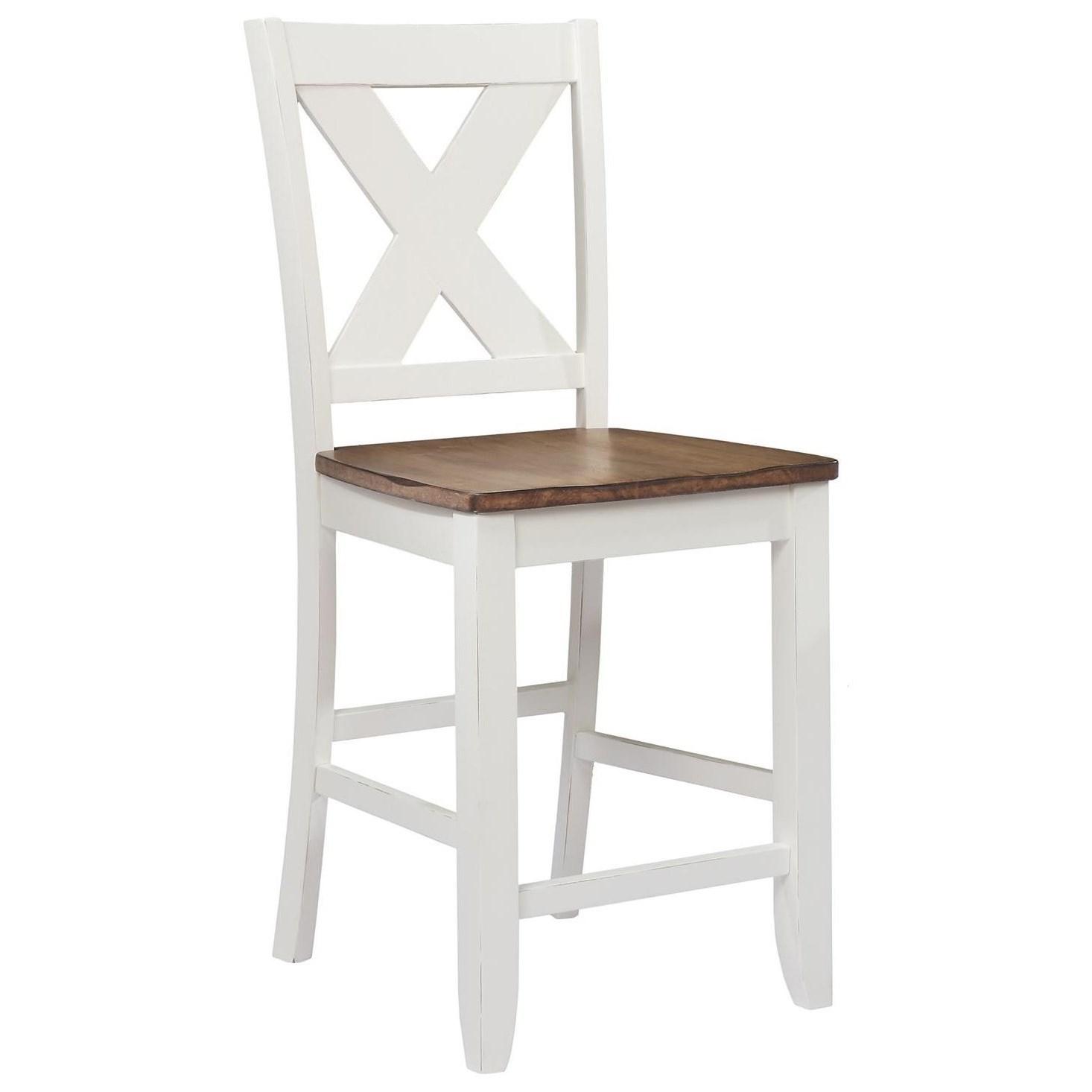 Awe Inspiring Pacifica X Back Counter Height Barstool Creativecarmelina Interior Chair Design Creativecarmelinacom
