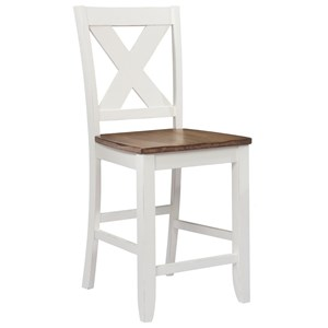 X Back Counter Height Barstool