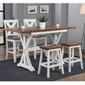 Winners Only Pacifica Counter Height Dining Set - Item Number: DPT52866+2x5724+2x2124