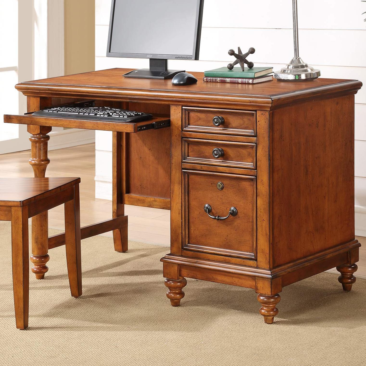 Palm Beach Single Pedestal Writing Desk Rotmans Single