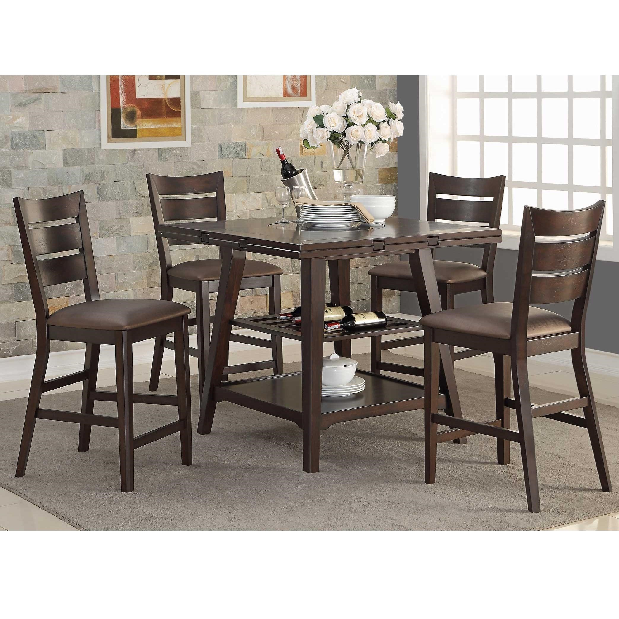 Winners Only Parkside Dpt36060x 4x45024x 5 Piece Counter Height Dining Set Dunk Bright Furniture Pub Table And Stool Sets