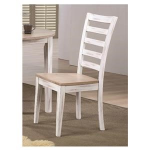 Straight Ladder Back Side Chair