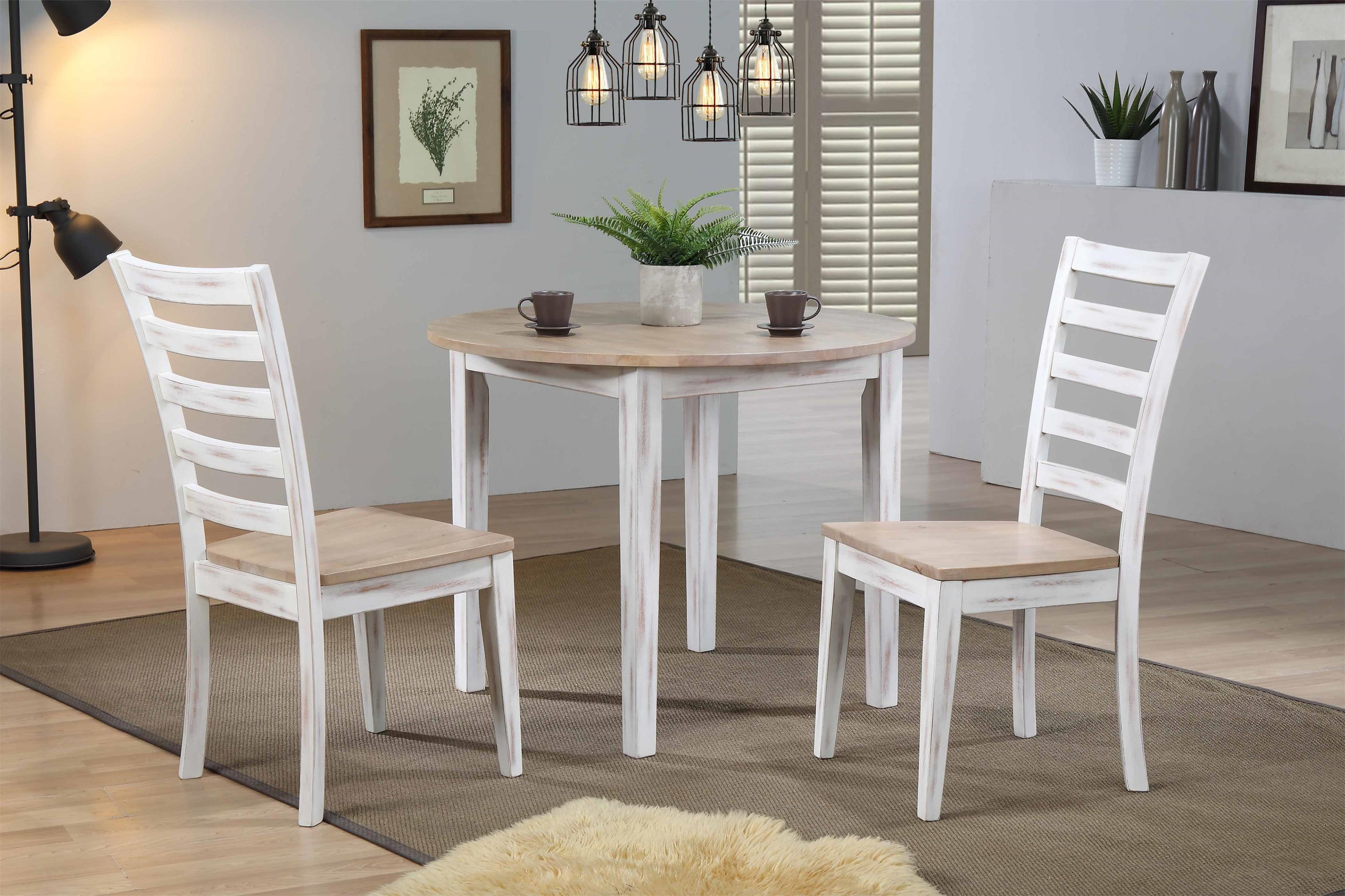 "36"" Round Table & 2 Chairs"