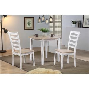 """36"""" Round Table & 2 Chairs"""